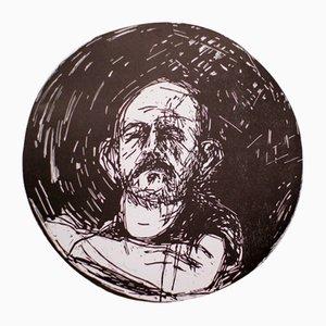 Poster Autoritratto in specchio convesso di Jim Dine, anni '80