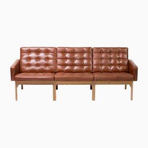 Leather Sofa by Ole Gjerløv-Knudsen and Torben Lind for France & Søn / France & Daverkosen, 1960s