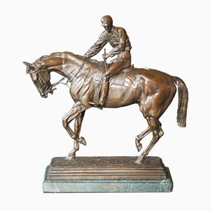 Antique Le Grand Jockey Sculpture by Isidore Jules Bonheur