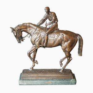Scultura Le Grand Jockey antica di Isidoro Jules Bonheur