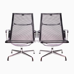 Aluminum Armchairs by Charles Eames for Vitra, 1990s, Set of 2