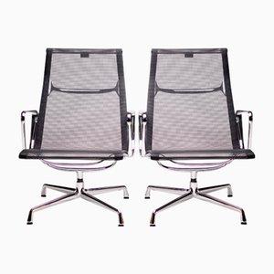 Armlehnstühle aus Aluminium von Charles Eames für Vitra, 1990er, 2er Set