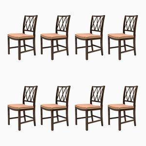 Esszimmerstühle aus Mahagoni von Ole Wanscher für A.J. Iversen, 1950er, 8er Set