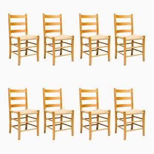 Chaises de Salle à Manger Noires, Suède, 1960s, Set de 8