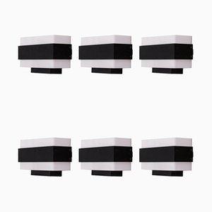 Architectural Sconces, 1960s, Set of 6