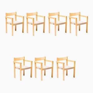 Chaises de Salle à Manger par Hans Wegner, années 70, Set de 7