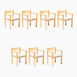 Esszimmerstühle von Hans Wegner, 1970er, 7er Set