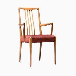 Italienische Esszimmerstühle aus Nussholz, 1960er, 6er Set