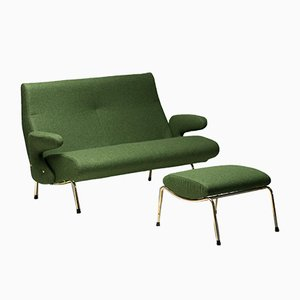 Delfino Sofa and Ottoman by Erberto Carboni for Arflex, 1950s, Set of 2