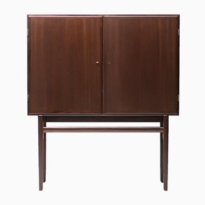 Mahogany Bar Cabinet by Ole Wanscher, 1950s