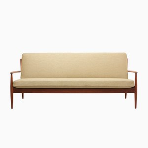 3-Sitzer Sofa mit Gestell aus Teak von Grete Jalk für France & Søn / France & Daverkosen, 1960er