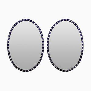 Miroirs avec Cadres Cloutés, 1970s, Set de 2