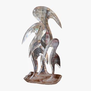 Vogel Skulptur aus Plexiglas von Hivo Van Teal, 1980er