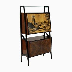 Mueble bar italiano de palisandro, años 50
