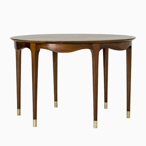 Table Basse en Noyer par Ole Wanscher pour A.J. Iversen, 1950s