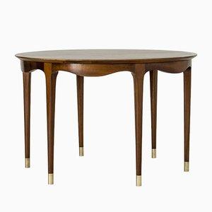 Tavolino da caffè in noce di Ole Wanscher per A.J. Iversen, anni '50