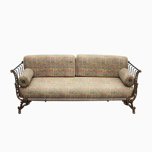 Painted and Gilded Metal Sofa, 1920s