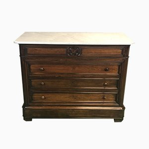 Antique Rosewood and Marble Dresser