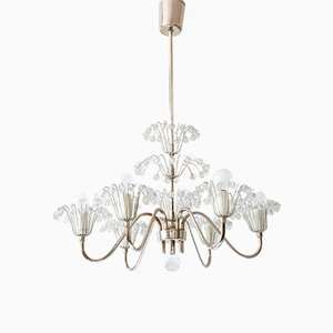 Austrian Fontaine Chandelier by Emil Stejnar for Rupert Nikoll, 1950s