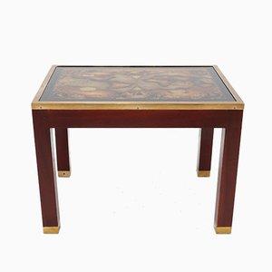 Tavolino in mogano e vetro, 1968