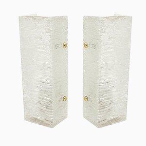 Glass Sconces by J.T.Kalmar for J.T.Kalmar, 1960s, Set of 2