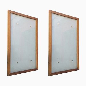 Glazed Panel Frames, 1950s, Set of 2