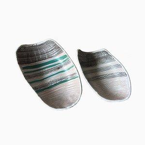 Französische Keramikteller von Austruy, 1950er, 2er Set