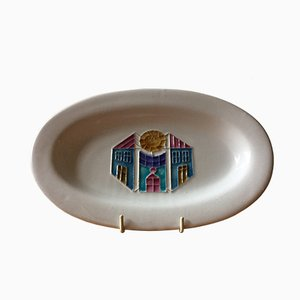 French Tube Lined Dish by Roger Capron, 1970s