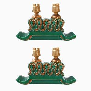 Französische Tischlampen aus Keramik für PL, 1950er, 2er Set