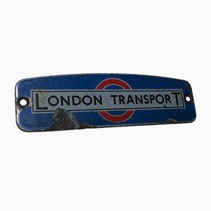 Señal London Transport esmaltada, años 50