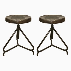 Swivel Stools, 1940s, Set of 2