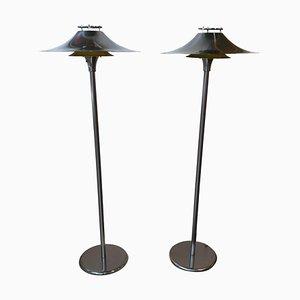 Dänische Stehlampen von Lyfa, 1950er, 2er Set
