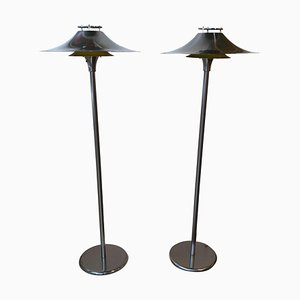 Danish Floor Lamps from Lyfa, 1950s, Set of 2