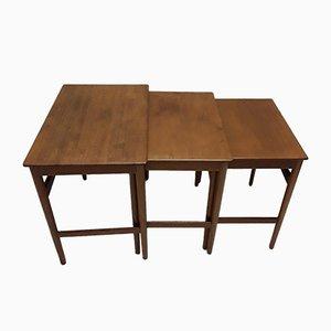 Tavolini ad incastro in teak di Hans Wegner per Andreas Tuck, anni '60