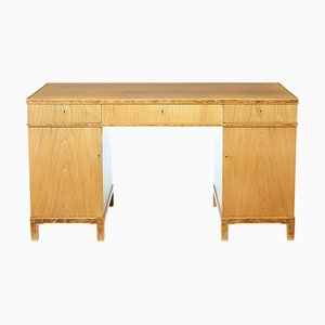 Scandinavian Elm Desk, 1940s