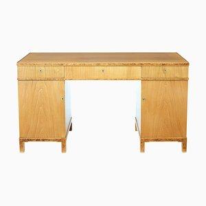 Skandinavischer Schreibtisch aus Ulmenholz, 1940er