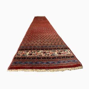Tappeto da corridoio vintage fatto a mano in lana, anni '60