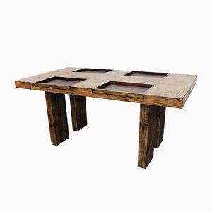 Tavolo da pranzo in bambù, anni '70
