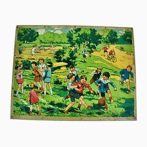 Puzzle 48 Pièces en Bois, 1930s