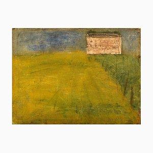 Modernist Field Landscape Ölgemälde von Lili Ege, 1970er