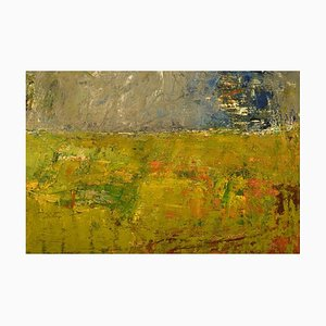 Modernist Landscape Ölgemälde von Lili Ege, 1976