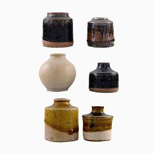 Mid-Century Vases by Gunt Bilde Sørensen & Niels Oluf 'Jeppe' Thorkelin-Eriksen, Set of 6