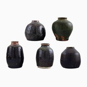 Mid-Century Vases by Gunt Bilde Sørensen & Niels Oluf 'Jeppe' Thorkelin-Eriksen, Set of 5