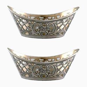 Antike verzierte Silberschalen, 2er Set