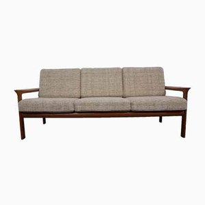3-Sitzer Sofa mit Gestell aus Teak von Sven Ellekaer für Komfort, 1970er