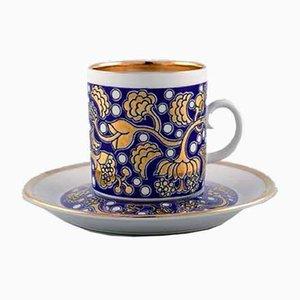 Mid-Century Liris Espressotassen mit Untertassen von Esteu Tomula für Arabia, 16er Set
