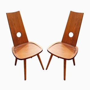 Brutalist Side Chairs, 1970s, Set of 2