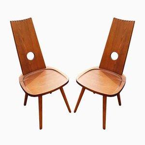 Brutalistische Beistellstühle, 1970er, 2er Set