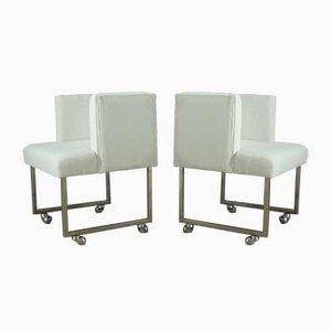 Weiße Sessel, 1960er, 4er Set