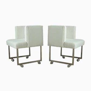 White Armchairs, 1960s, Set of 4